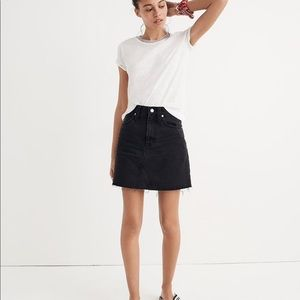 Madewell denim frisco mini skirt in lunar wash